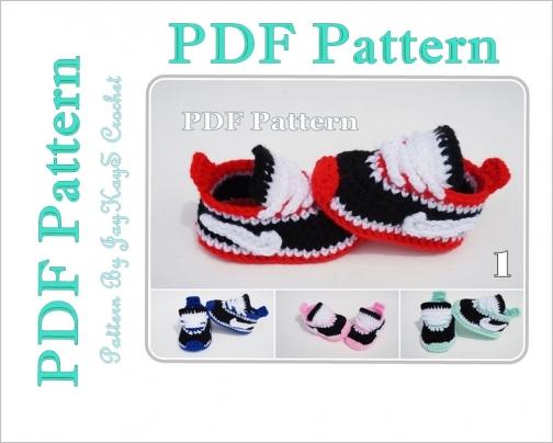 402a8ac22a Crochet Pattern Baby Nike Shoes Sneakers Booties by jaykayscrochet