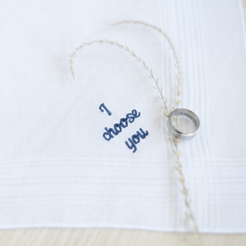 I Choose You Mens Handkerchief, Groom Gift From Bride On