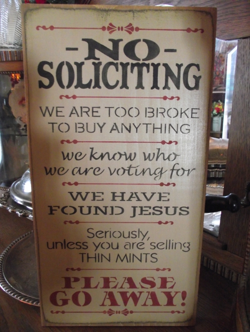 No Soliciting Primitive Wood Sign Wooden Signs By 4 The