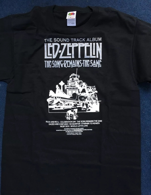 led zeppelin the song remains the same black cotton tee shirt. Black Bedroom Furniture Sets. Home Design Ideas