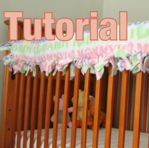 No Sew Tied Quilted Crib Rail Guard Tutorial Tm By