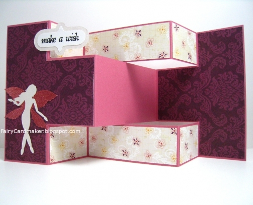 Handmade Fairy Birthday Card Pink And Purple Summer Breeze