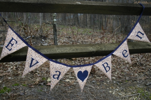 name fabric banner large triangle pennants by chasenlevi