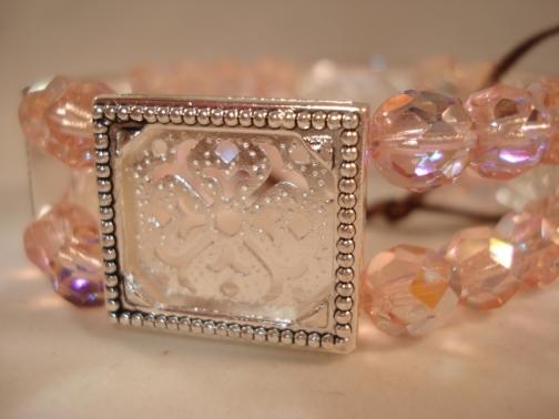 Pink 4 Frame Picture Frame Bracelet By Pictureframebracelet