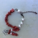 Beautiful Red Coral With Swarovski Pearls