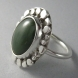 Jade in Sterling Silver Ring