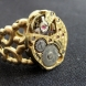 Golden brass steampunk ring