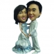 Personalized Wedding Cake Topper of a Rosy Couple