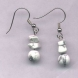 Genuine White Howlite Earrings
