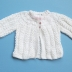 Baby Girl Hand-Knitted Jacket (White)