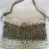 Womens Handknitted Summer Tote - Coffee and Cream