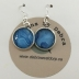 Silver & Blue Pierced Earrings #3110