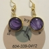Gold & Purple Pierced Earrings #3065