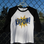 Black and White KAPOW!! Raglan