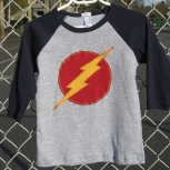 Navy and Grey Lightning Bolt Raglan
