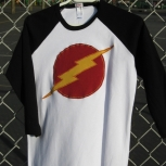 Black and White Lightning Bolt Raglan