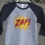 Navy and Grey ZAP! Raglan