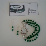 May birthstone watch with matching bracelets and earrings