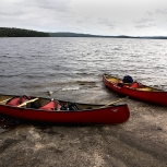 Two Red Canoes, Algonquin Park, Canada, Photo Print 8' x 6'