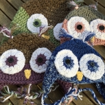 Kids owl hat