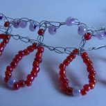 funky red seed bead chocker