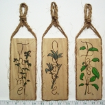Herb Wall Plaques -lt oak