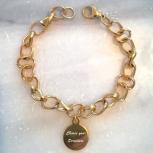 af492b5ebdfb4 Rose Gold Mixed Metal Christian bible verse heart charm bracelet
