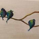 Birds in Blue