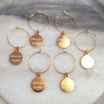 Gold Christian bible verse scripture wine glass charms made in canada