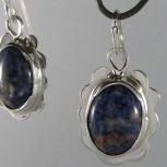 Sodalite Silver Earrings