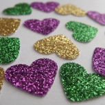 Heart Confetti. MardiGras Party Decorations. Birthday Decoration