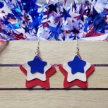 4th of July genuine leather 3 layer stars