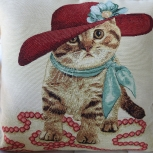 Cat In A Hat Tapestry Cushion Cover - Free Shipping