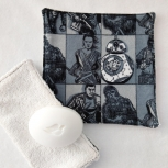 Black, White and Gray Star Wars Children Facecloth