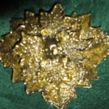 Sunset Gold Green Man Barrette