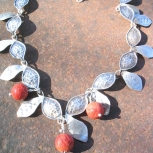 Sterling necklace Daphne's garland