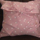 Front of polka dot cushion