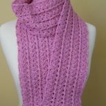 pink shells scarf