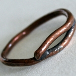 """Twig"" copper ring"