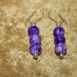 Purple Clover Collection Earrings