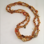 Spiral rope necklace/Gold Mix