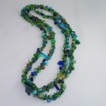 Spiral rope necklace/GreenMix