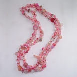 Spiral rope necklace/Pink Mix