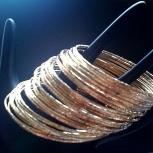 Set of 40 handmade hammered gold filled bangles