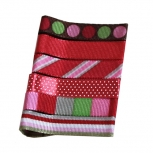 Designer Hair Clips in Deep Red Patterns and Solids
