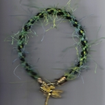 Kumihimo Bracelet with Dragonfly