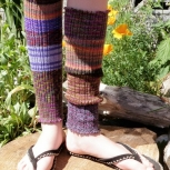 Multi Purple Leg Warmers