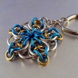 Blue & Gold Celtic Star Key Chain