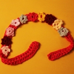 Adjustable Headband with Flowers