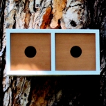 Mid century modern redwood birdhouse